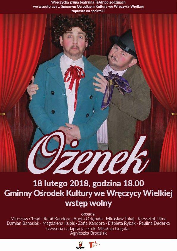 OŻENEK spektakl 2018 wr