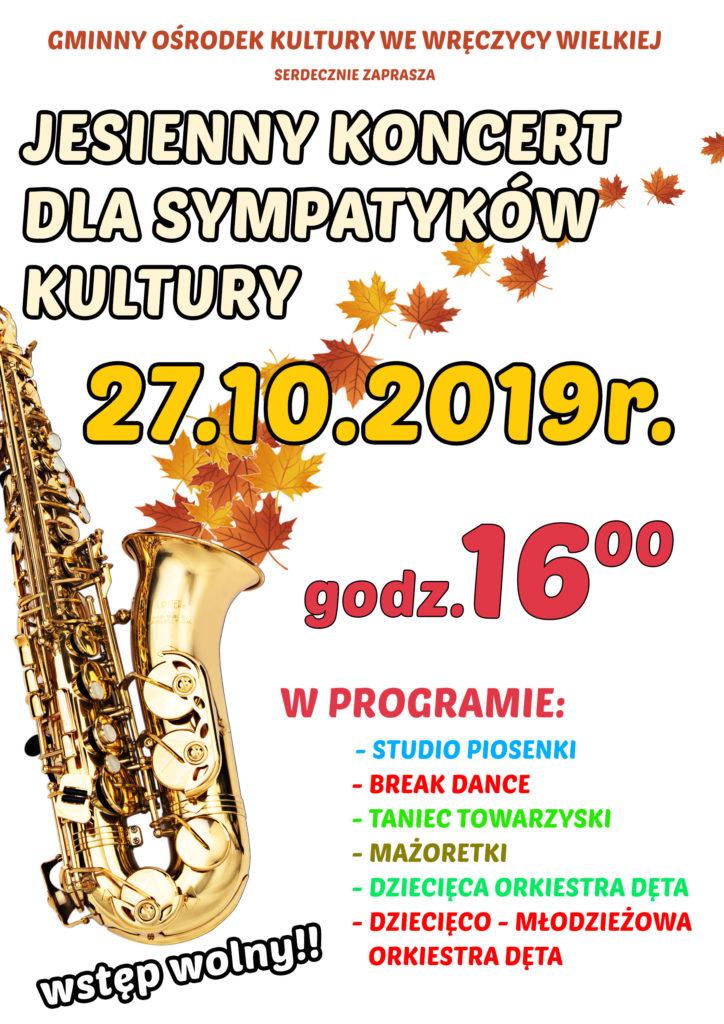 plakat- jesienny koncert dla sympatyków kultury